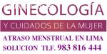 Atraso Menstrual Huacho 983816444 Huaral