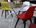 Mesa de cristal cuadrada 80*80 cm