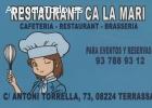 Restaurante Ca La Mari, cafetería, brase
